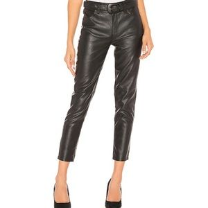 Free People Vegan Faux Leather Belted Skinny Pant
